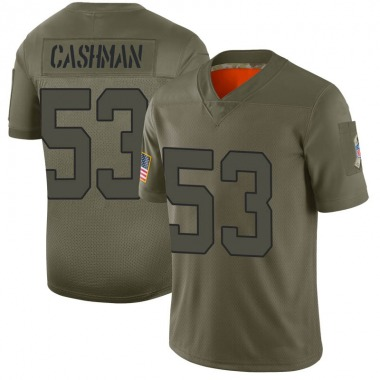 Men's Nike New York Jets Blake Cashman 2019 Salute to Service Jersey - Camo Limited