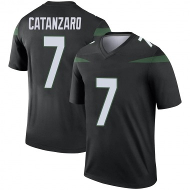 Men's Nike New York Jets Chandler Catanzaro Stealth Color Rush Jersey - Black Legend