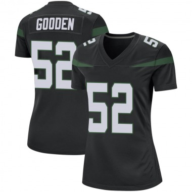Women's Nike New York Jets Ahmad Gooden Stealth Jersey - Black Game