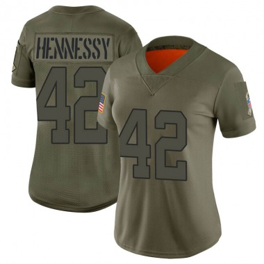 Women's Nike New York Jets Thomas Hennessy 2019 Salute to Service Jersey - Camo Limited