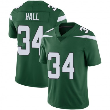 Youth Nike New York Jets Bryce Hall 100th Vapor Jersey - Green Limited