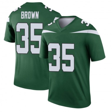 Youth Nike New York Jets Kyron Brown Gotham Player Jersey - Green Legend