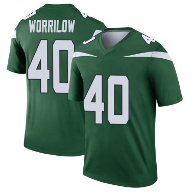 Youth Nike New York Jets Paul Worrilow Gotham Player Jersey - Green Legend